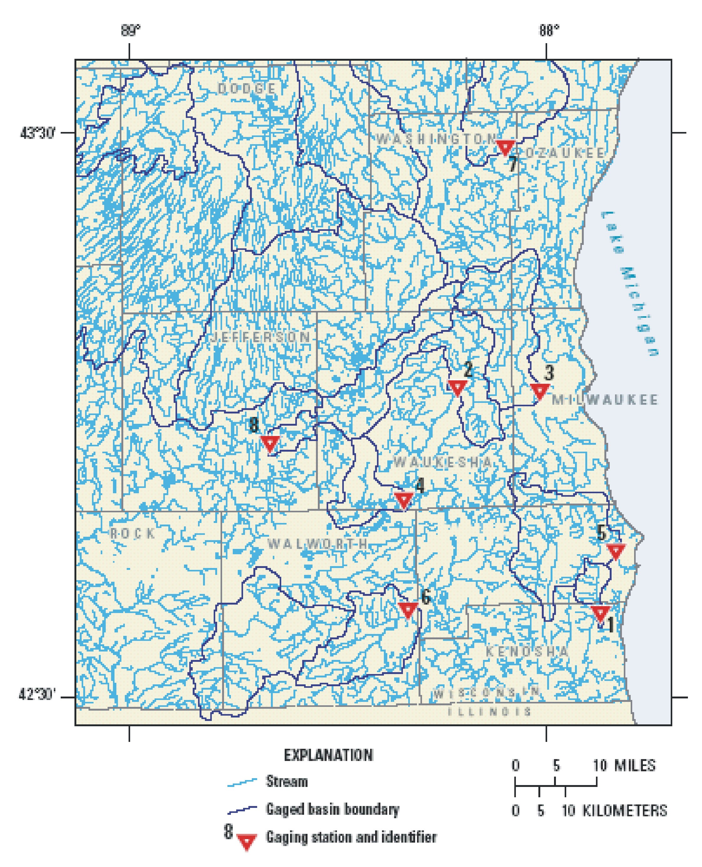 Usgs Ground Water In The Great Lakes Basin The Case Of - Us-bodies-of-water-map
