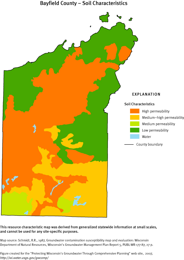 bayfield county soil characteristics