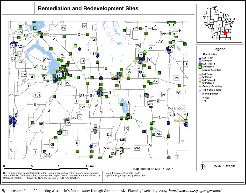 Protecting Ground Water In Wisconsin Through Prehensive: Map Of Dodge County Wi At Slyspyder.com