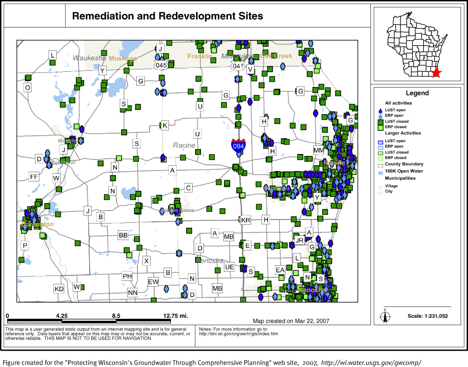 Protecting Groundwater In Wisconsin Through Prehensive Planning: Map Of Racine County At Slyspyder.com
