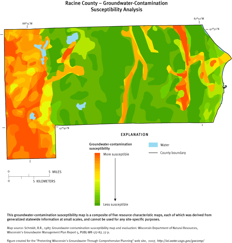 Racine Wisconsin Map.Protecting Groundwater In Wisconsin Through Comprehensive Planning