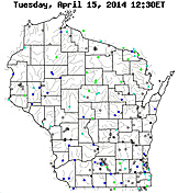 Current streamflow conditions in Wisconsin- click to see a live map.