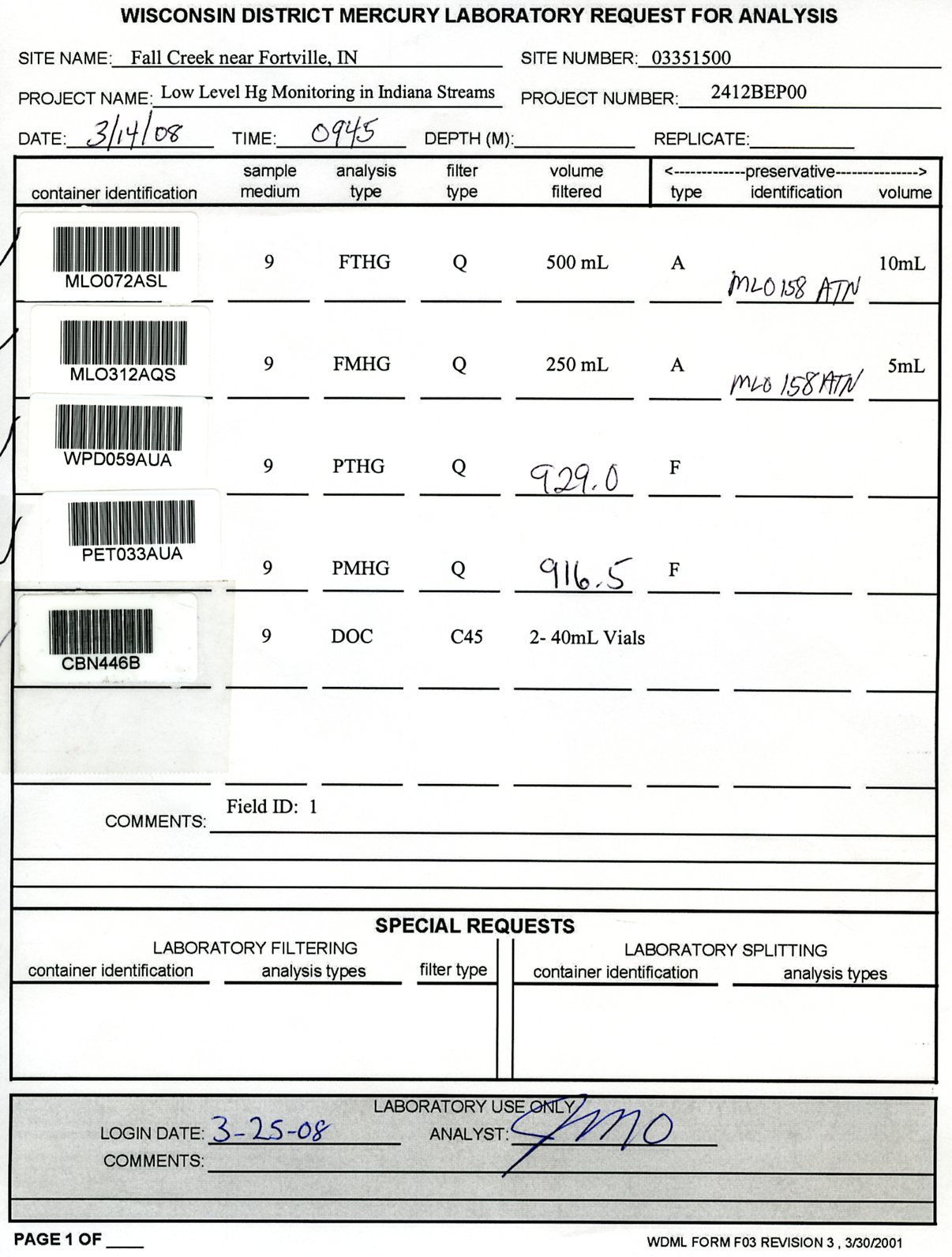 Sample Rfa Form Filled Out Properly Usgs Mercury